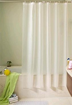 Ufelicity Classic Solid White Odorless Shower Curtain PEVA W