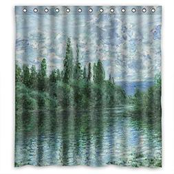 Eyeselect The Claude Monet Art Painting Bathroom Curtains Of