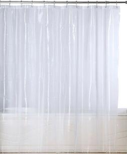Clear Mildew Resistant Shower Curtain Heavy-Duty Waterproof