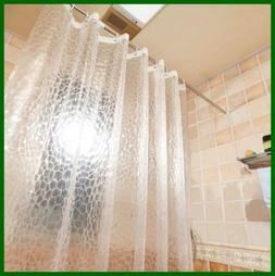 Clear Shower Curtain EVA Water Repellent Bathroom Cube W Mag