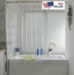 Clear Shower Curtain Liner Anti-Bacterial PEVA 72x72 Water R