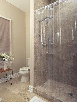 Ottomanson Heavy Duty 10-Gauge PEVA Shower Curtain Liner wit