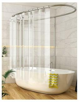 Clear Shower Curtain Liner for Bathroom, Peva Mildew Resista