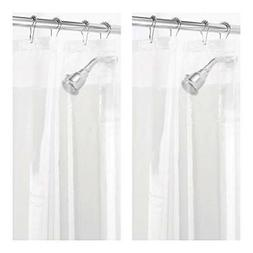 Clear Vinyl Shower Curtain Liner Extra Long 72 x 84 Mildew R