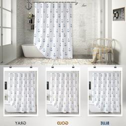 Cloth Fabric Shower Curtain Ship's Anchor Mold & Mildew Resi