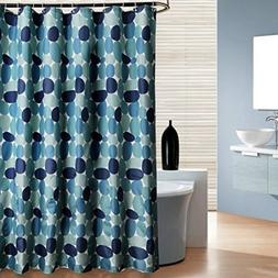 Uphome Cobble Stone Bathroom Shower Curtain, 36 X 72 Inch Bl