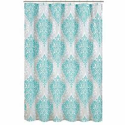 Comfort Spaces – Coco Shower Curtain – Teal and Grey –