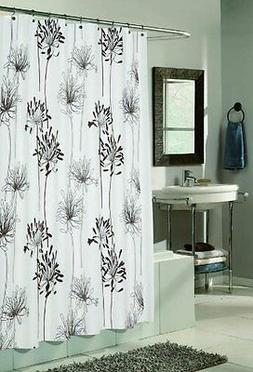 cologne fabric shower curtain design with flocking
