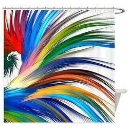 CafePress Colorful Abstract Shower Curtain