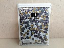 LanMeng Confetti Design Fabric Shower Curtain with Rings 72x