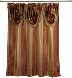 Popular Bath Contempo Spice with Attached Valance Fabric Sho