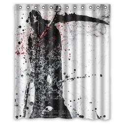 Cool And Horror Anime Design Death Black And Red Shower Curt