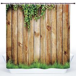 SCOCICI Cool Shower Curtain,Rustic Home Decor,Fresh Spring G