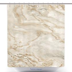vanfan Cool Shower Curtains Big Marble Texture Polyester Bat