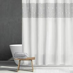 "mDesign Cotton Bathroom Shower Curtain, Modern Print, 72"" x"