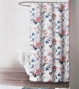 Gilded Rose Cotton Fabric Shower Curtain Floral Sophistaced
