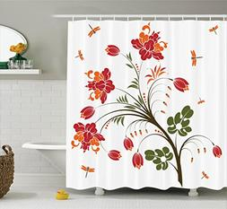 Ambesonne Country Decor Collection, Flourishing Vivid Blosso