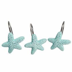 Aystuff 12 Pcs Creative Blue Starfish Decorative Shower Curt