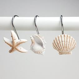 Aystuff Creative Shower Curtain Hooks, 12PCS Decorative Seas