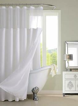 Dainty Home CSCDLWH Waffle Shower Curtain Complete Shower Cu