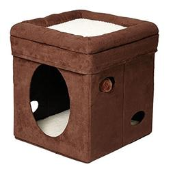 MidWest The Original Curious Cat Cube, Cat House/Cat Condo i