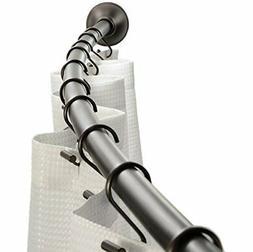 Curved Metal Shower Curtain Rod Adjustable Customizable Curt