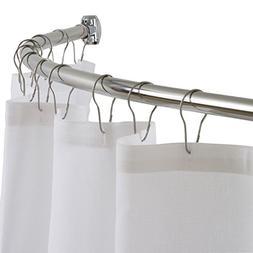 """DIAMOND Curved Shower Curtain Rod, 54"""" - 72"""" Adjustable, Rus"""