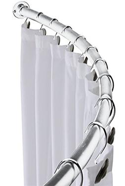 """MINEL Curved Shower Curtain Rod, Expandable from 41"""" to 72"""