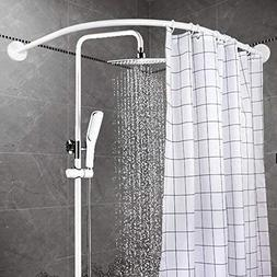Curved Shower Rod Aluminum Alloy Wall Mount Corner Bathroom