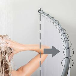 "Curved Shower Rod  Bathroom curtain rod 60""-72""  High qualit"