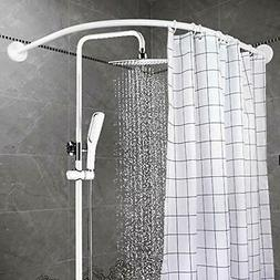 YOLOPLUS Curved Shower Rod Wall Mount Bathroom Curtain Cover