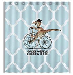 Vandarllin Custom Dinosaur Bicycle Geometric Pattern Waterpr