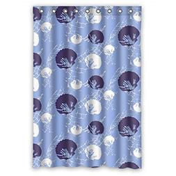 Custom Design Easy Clean Sea Shower Curtain, Width X Height