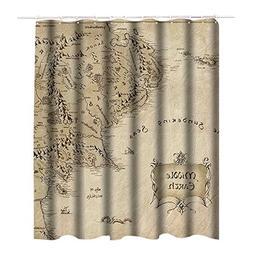Wlark Custom Best Middle Earth Shower Curtain Waterproof/Mil