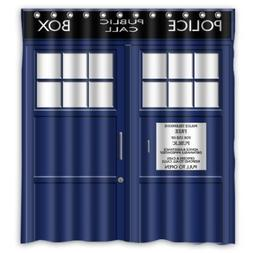 FMSHPON Police Box Public Call Waterproof Fabric Bathroom Sh