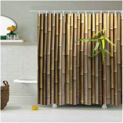 Custom Shower Curtain Decor Bamboo 3D Printing Polyester Bat