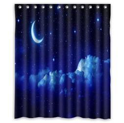 """Custom Waterproof Bathroom Shower Curtain 36"""" x 72"""" Ocean Th"""
