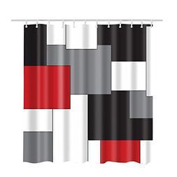 Custom Best White,Grey,Black and Red Irregular Geometric Spl