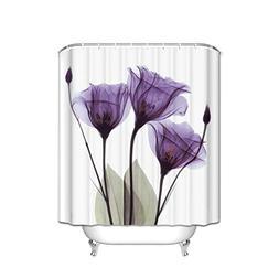 EZON-CH Customize Waterproof Modern Romantic Purple Flower D