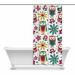 InterestPrint New Cute Animal Made with Owls, Flowers, Natur