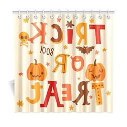 InterestPrint Cute Halloween Pumpkin Home Decor, Trick or Tr