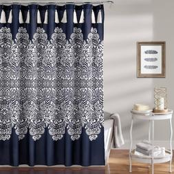 "Lush Decor Lush Décor Boho Medallion Shower Curtain, 72"" x"
