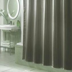 Damask Stripe Fabric Shower Curtain Liner Gray