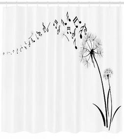 Dandelions and Music Notes Silhouette Modern Home Decor Imag