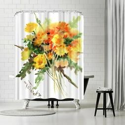 Americanflat 'Dandolions' Shower Curtain