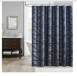 "Dante Jacquard Shower Curtain Navy 72x72"""