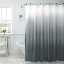 Dark Grey Creative Home Ideas Ombre Textured Shower Curtain