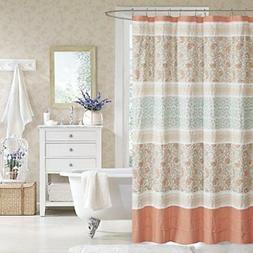 """Dawn Cotton Shower Curtain Coral 72x72"""""""