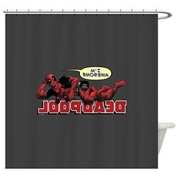 CafePress Deadpool Awesome - Decorative Fabric Shower Curtai