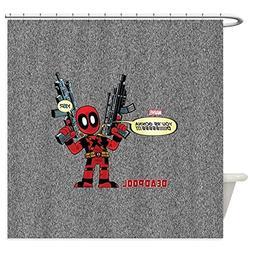CafePress Deadpool Gonna Die - Decorative Fabric Shower Curt